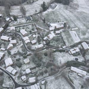 Vue aérienne de Vervialle